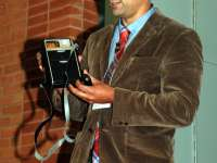 Dr Sonny Kohli showing an original Star Trek tricorder, which helped inspire a similar Cloud Dx device which was demonstrated at the conference.thumbnail image.