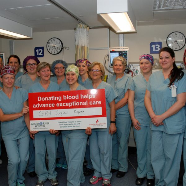 Blood donations are vital for high quality surgery