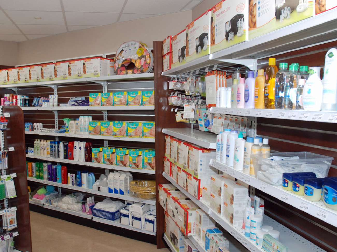 4,100 babies are born at GRH every year. So the renovated pharmacy includes a much larger baby care section.