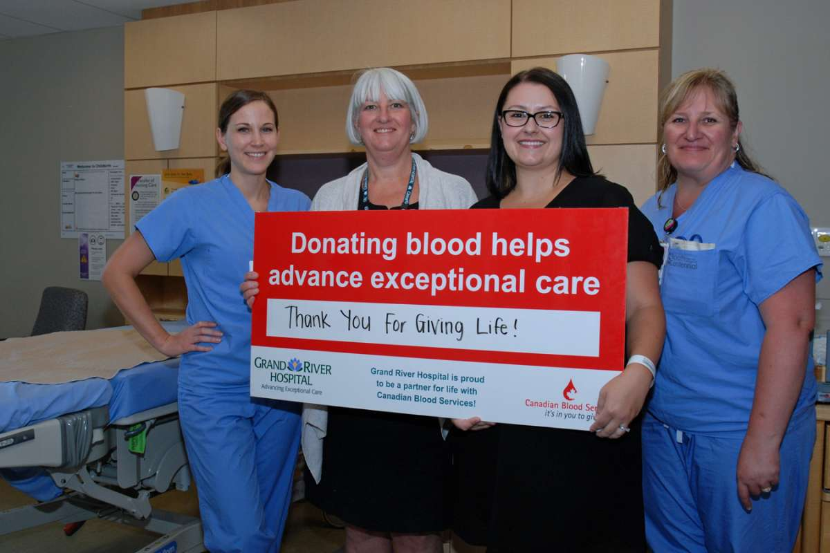 Carla Sluser With The Canadian Blood Services Sign In Childbirth