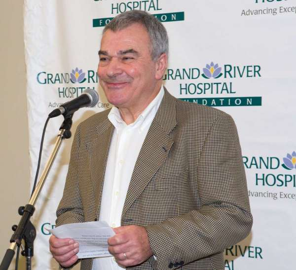 a portrait of GRH Board Chair Geoff Bellew