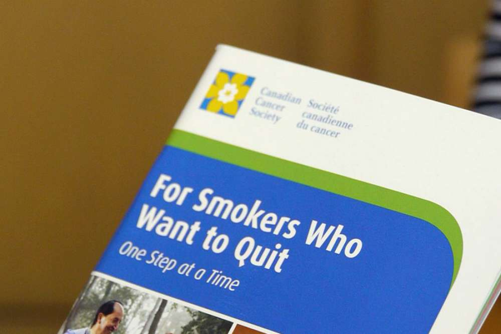 A picture of the cover of a stop smoking pamphlet