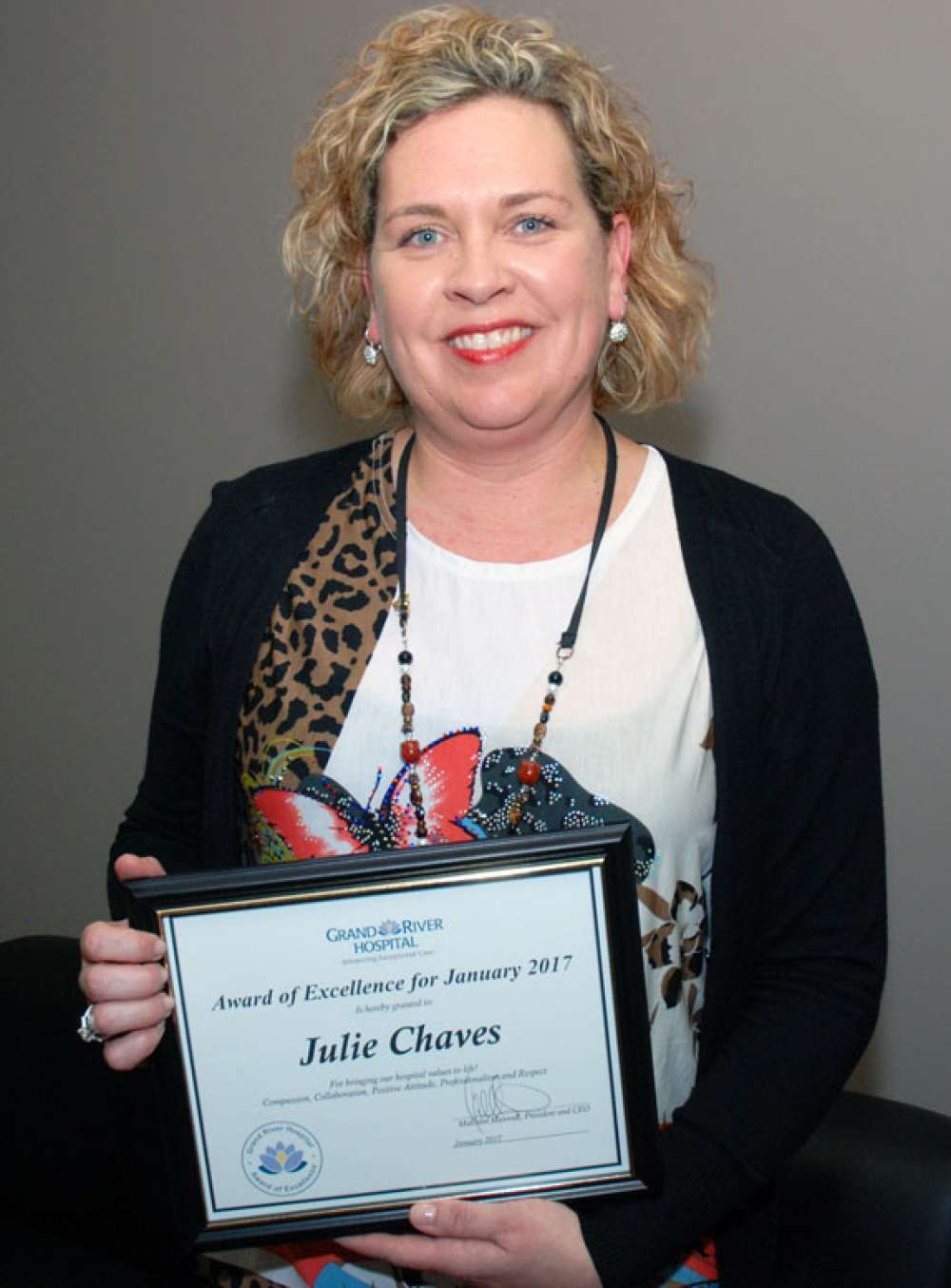 Aoe Julie Chaves Certificate