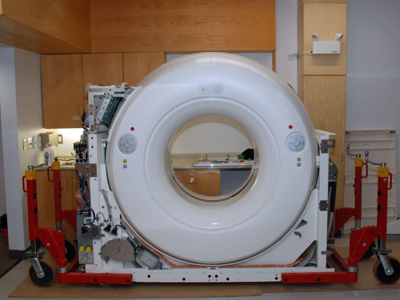 Part of the CT simulator in its new home.