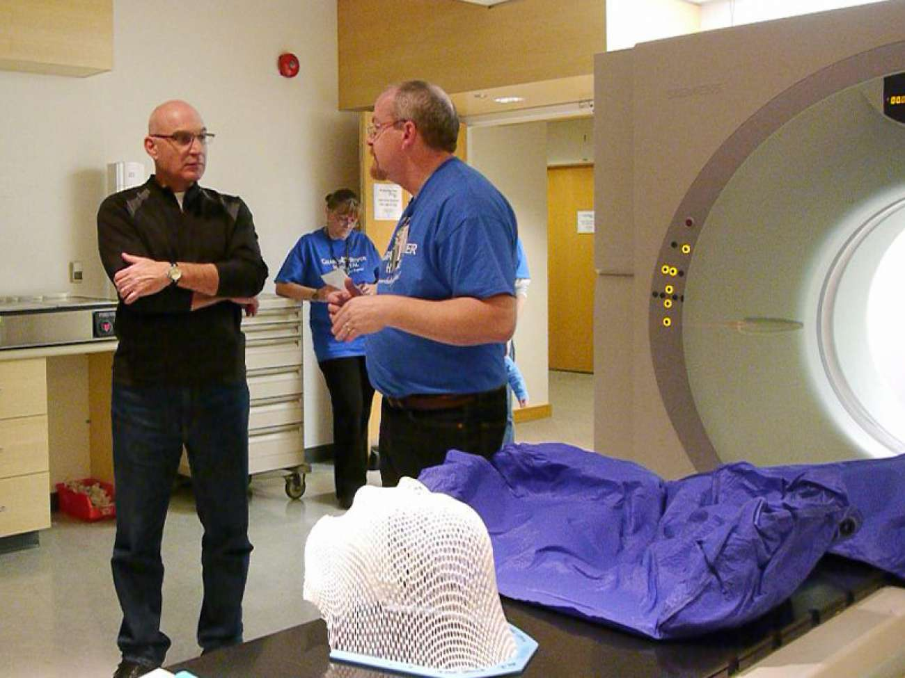 GRH currently has one CT simulator (shown) for radiation therapy planning.