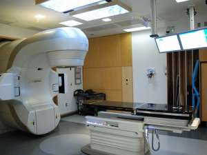 The new linear accelerator after testing and calibration.