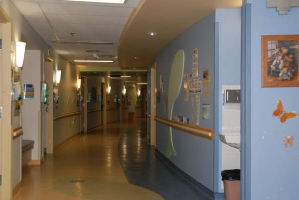 A photo of the children's inpatient unit