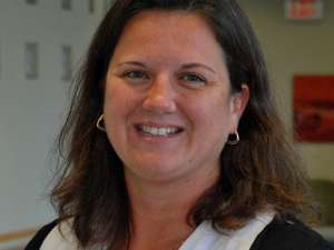 A portrait of GRH childbirth clinical nurse specialist Sheri Douglas