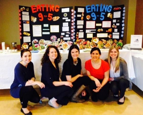 A photo of our dietetic interns during nutrition month