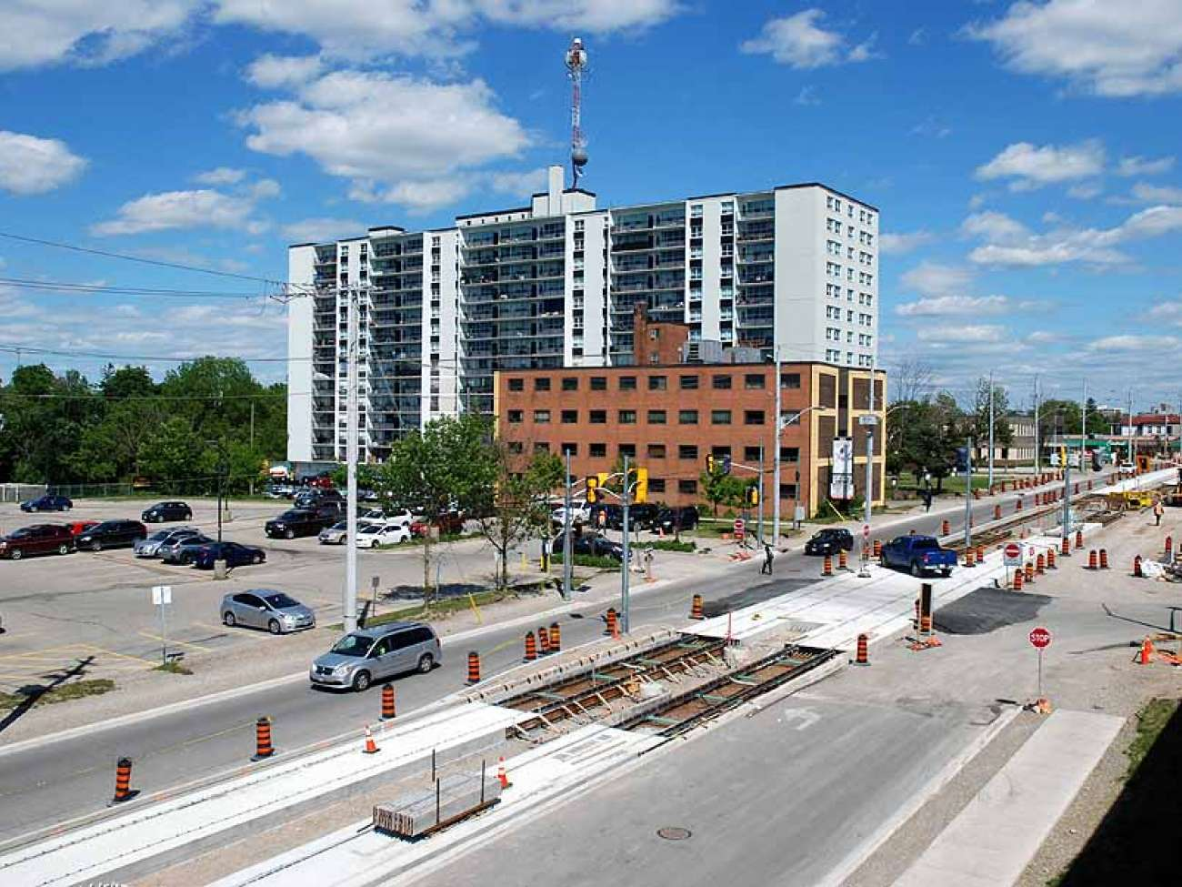 June 2016: track taking shape at King and Green streets