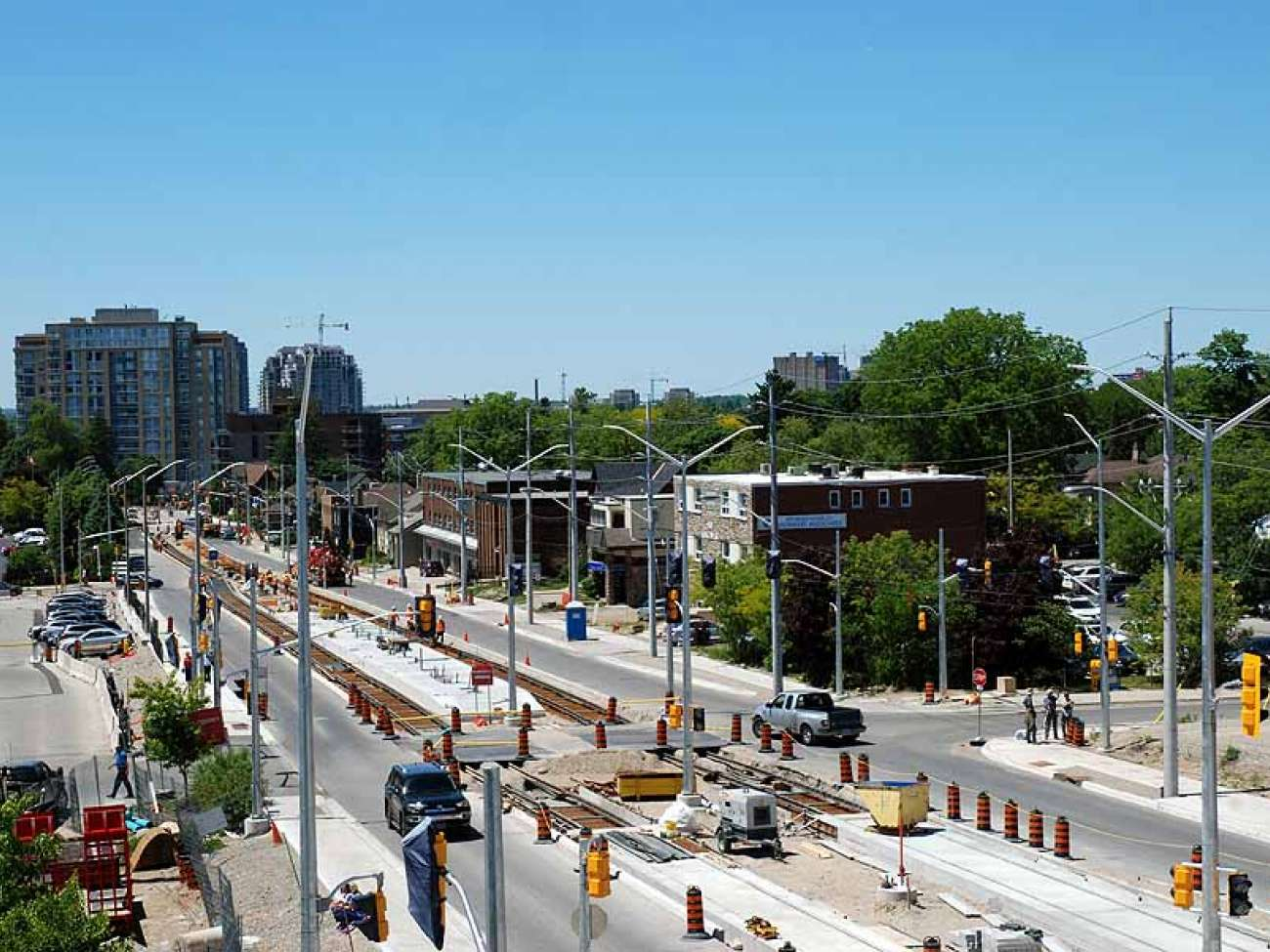 June 2016: construction continues up King toward Union Street