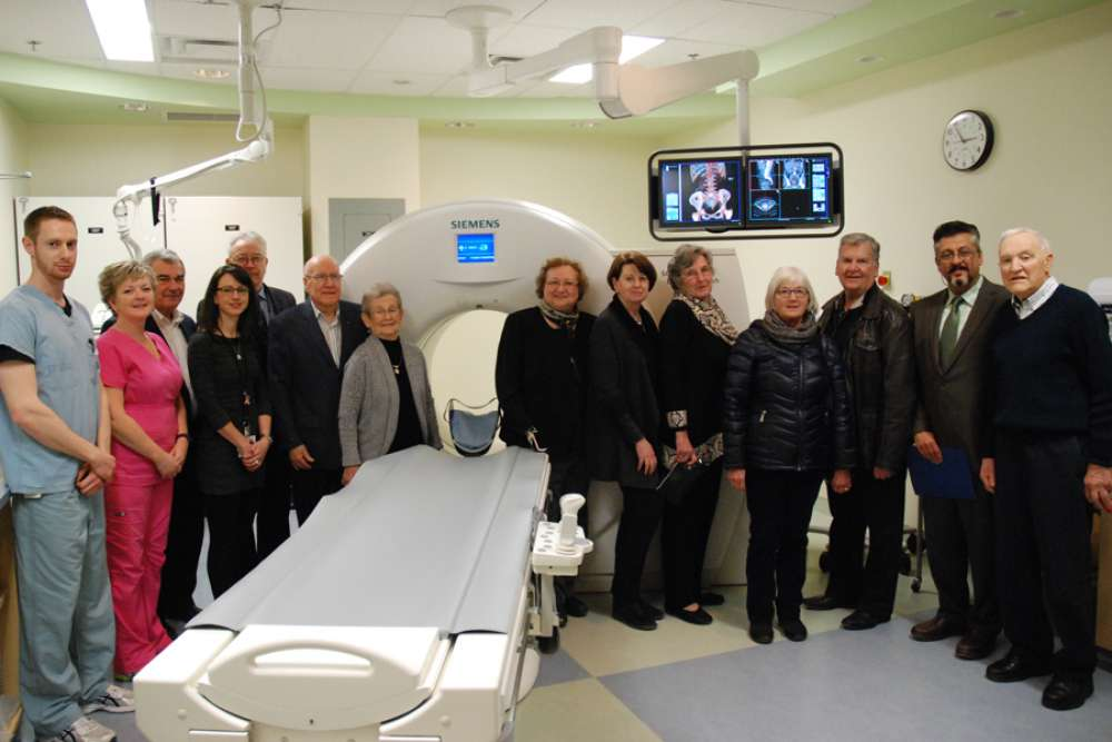 GRH and GRHF board members and senior leadership were joined by donors to tour the new CT scanner and see how their contributions will make a difference.