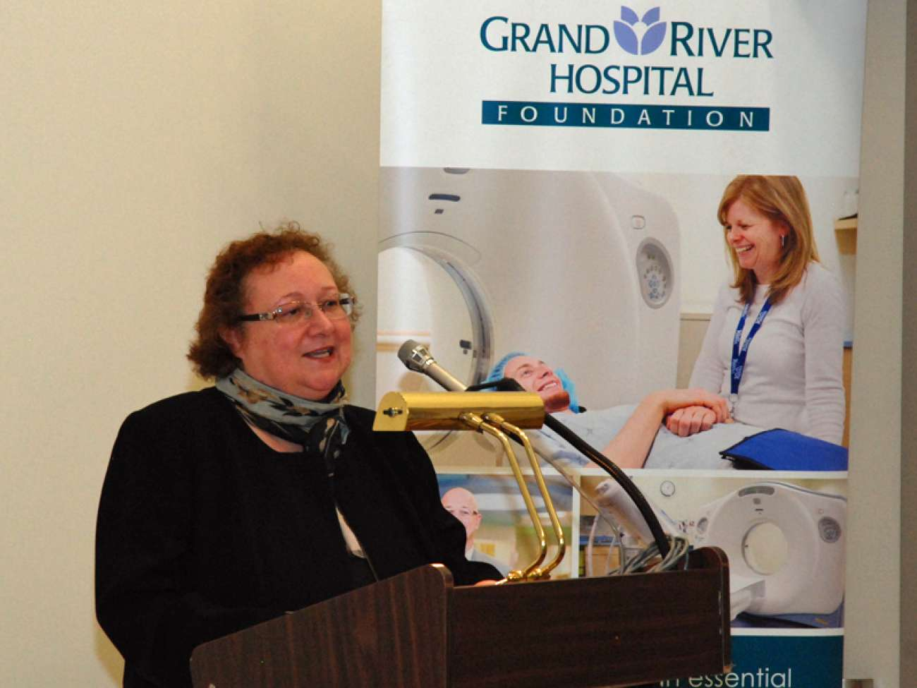 GRH Foundation president and CEO Tracey Bailey says 3,333 donors and groups contributed to the new CT scanner.