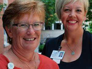 Lisa Soehner and Dana Schultz of GRH's patient relations dept.