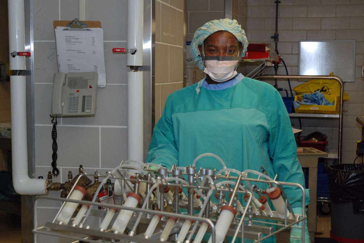 Sharon Vassell: ensuring the safety of GRH\'s surgical instruments