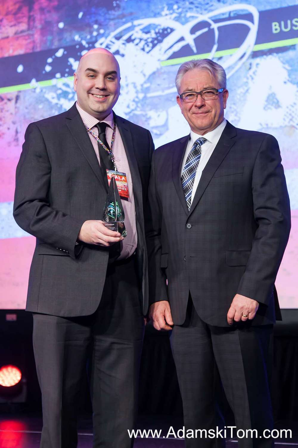 Pictured are Martin Kihle, Libro Regional Manager, Kitchener Waterloo and GRH CEO Malcolm Maxwell
