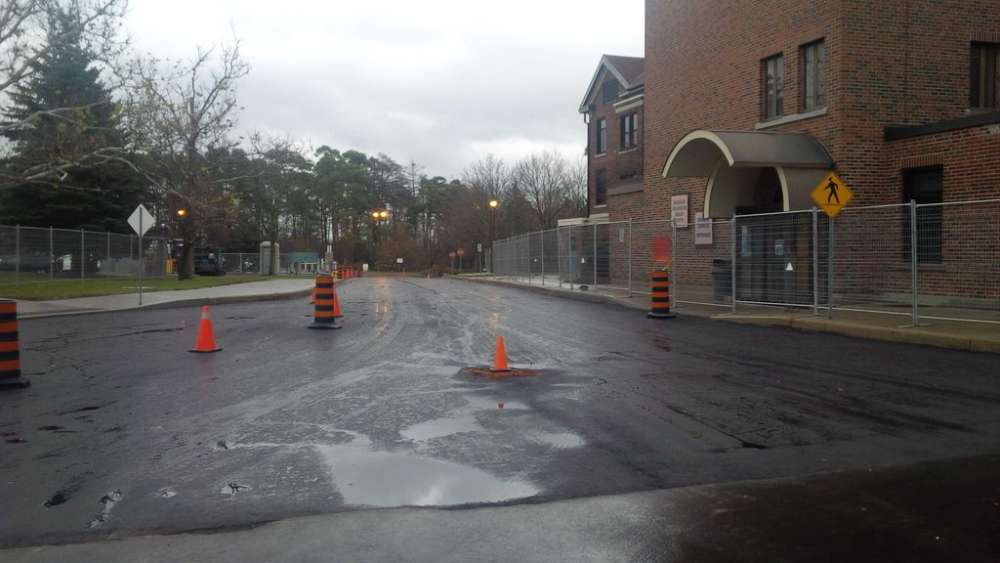Paving at GRH's Freeport Campus