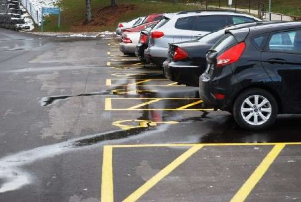 Accessible parking at GRH's Freeport Campus