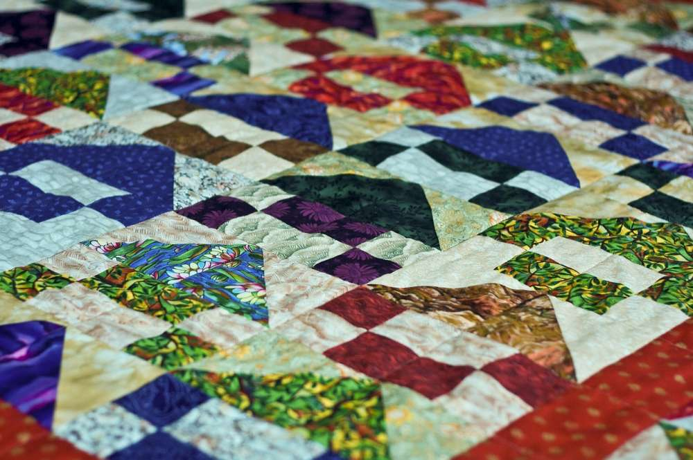 A picture of a quilt.