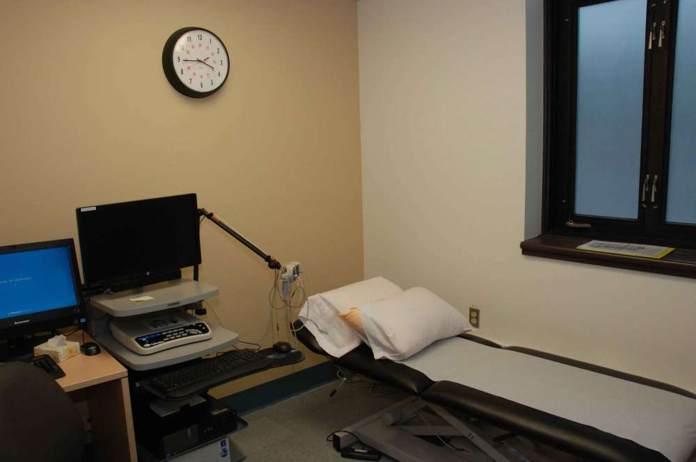 An examination room for outpatient rehabilitation at GRH's Freeport Campus