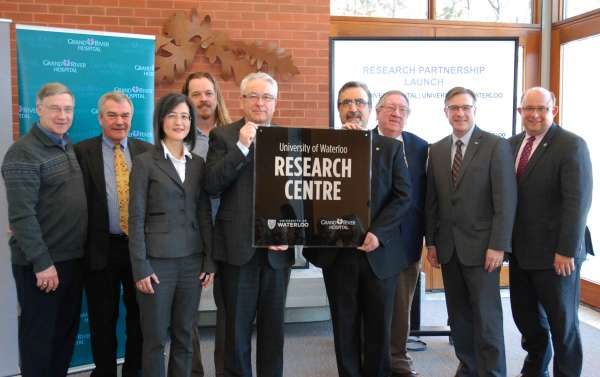 GRH and the University of Waterloo launch a research partnership to benefit patient care and enrich university research.