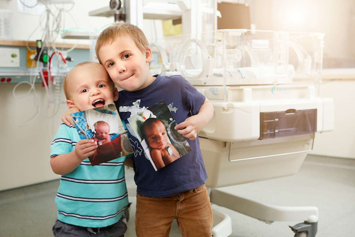 Asher and Elijah in GRH's neonatal intensive care unit