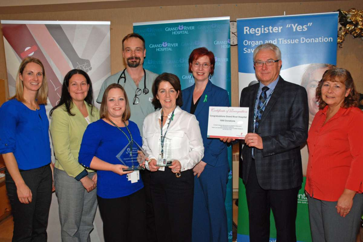 GRH has received three awards from Trillium Gift of Life Network and Canadian Blood services for the hospital's efforts supporting blood, organ and tissue donation.