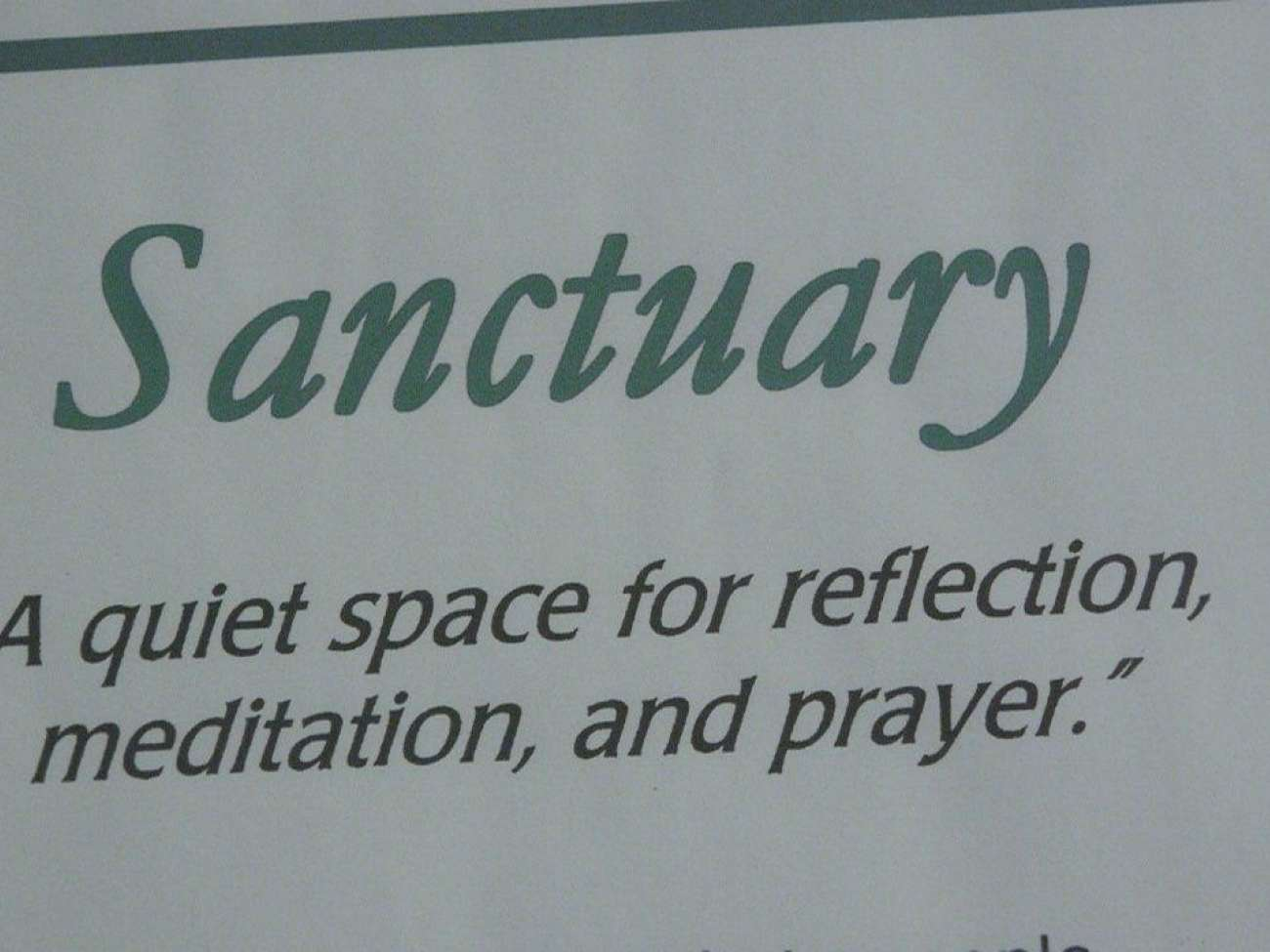 A sign for GRH's KW Campus sanctuary